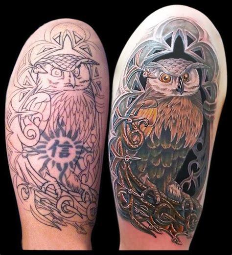 aaron goolsby tattoos nature animal bird owl