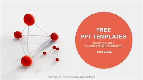 atom model medical powerpoint templates