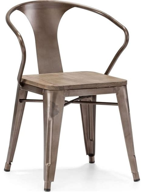zuo modern helix dining chair in rustic wood set of 2