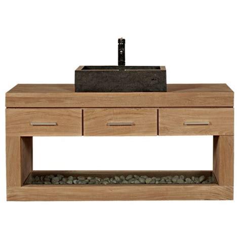 meuble salle de bain sous vasque a poser meuble sous vasque 224 suspendre teck 3 tiroirs 1 niche meuble