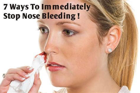 7 Ways To Immediately Stop Nose Bleeding  Home, Health