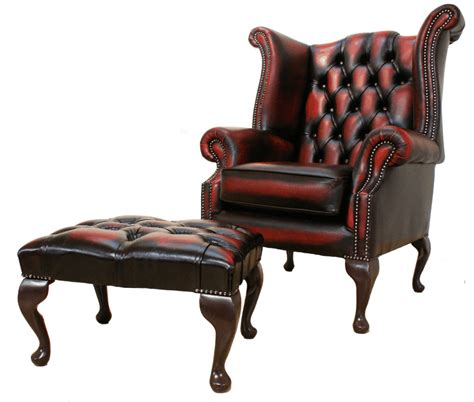 High Back Leather by Chesterfield High Back Wing Chair Oxblood