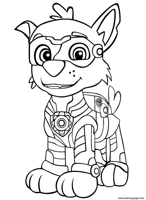 Print PAW Patrol Mighty Pups Rockys coloring pages in 2020
