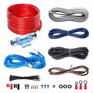 Boss 8 Gauge Cable Audio Car Amplifier Wiring Kit Speakers