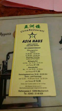Asia Haus Mechernich  Restaurant Avis, Numéro De