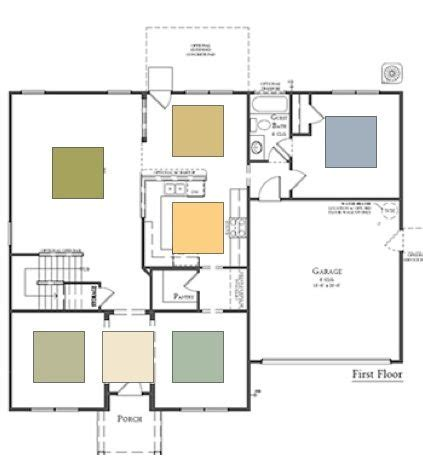paint color for an open floor plan home is where the
