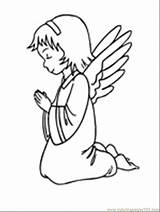 Angel Coloring Pages Printable Angels Bible Christmas Cake Praying Nativity Sunday Story Christian Colouring Peoples Themes Template Preschool Popular Biblestoryprintables sketch template