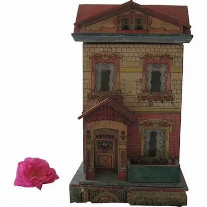 Victorian Dollhouse Antique Lithographed C1910 Antiques Shops