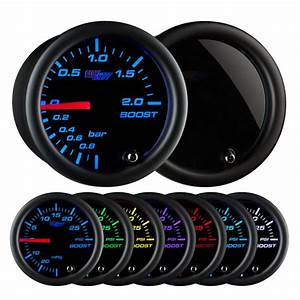 Glowshift Tinted 7 Color Bar Boost  Vacuum Gauge