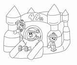 Castle Bouncy Colouring Bounce Coloring Drawing Carnival Richmond Colour Winter Getdrawings Contest Hill Sketch Template sketch template