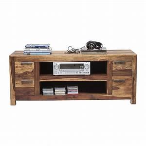 Meuble Tv Bois : meuble tv traditionnel en bois authentico kare design ~ Teatrodelosmanantiales.com Idées de Décoration