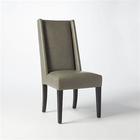 west elm willoughby leather dining chair shopstyle home