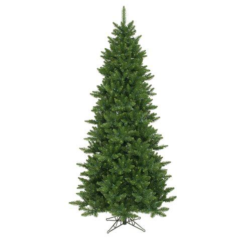 8 ft flocked slim christmas tree 8 5 foot slim camdon fir tree unlit a860880