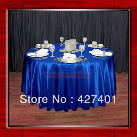 royal blue table linens royal blue 108 quot round shaped poly satin table cloth