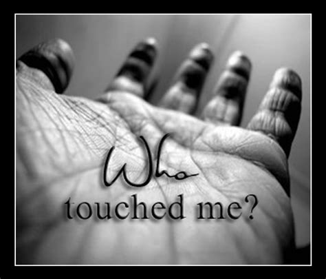 Beyond Question: A 40 Day Lenten Journey: WHO touched me?