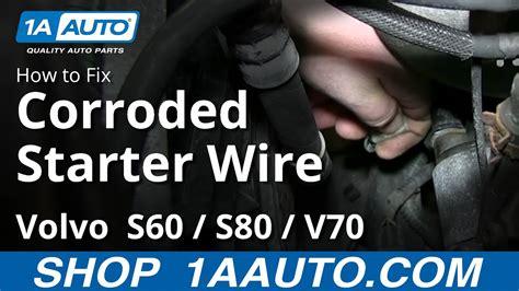 volvo    corroded starter wire engine