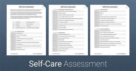 care assessment worksheet therapist aid
