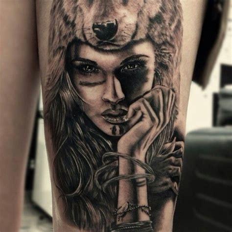 wolf headdress tattoo google search cho soi hinh