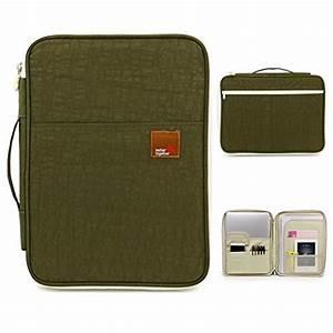 btsky waterproof zippered case portfolio organizer travel With travel document organizer case