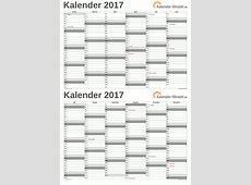 EXCELKALENDER 2017 KOSTENLOS