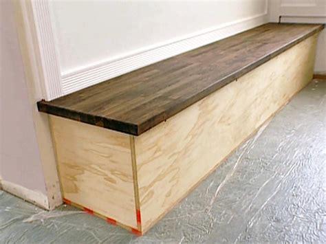 Builtin Bench With Butcherblock Top Hgtv