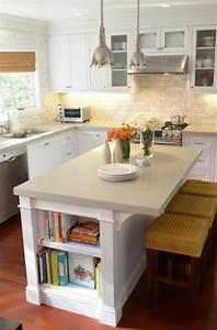 Table Cuisine Petit Espace : la cuisine avec lot central id es de d coration et design ~ Teatrodelosmanantiales.com Idées de Décoration