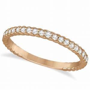 Diamond Rope Style Wedding Band 14k Rose Gold 021ct
