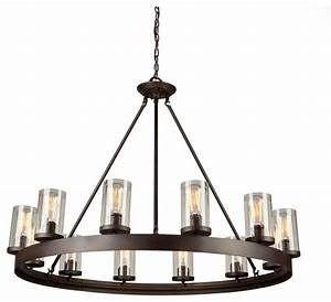 Menlo park light oil rubbed bronze chandelier transitional chandeliers by artcraft lighting