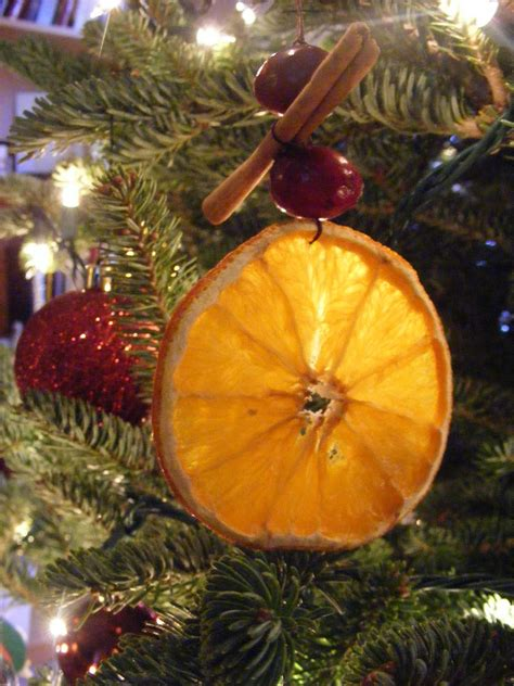 everyday art dried orange ornaments