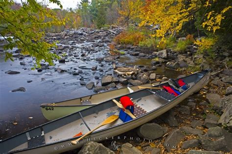 Canoes In Ontario by Canoeing Oxtongue River Ontario Photo Information