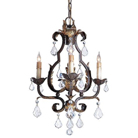 currey and company tuscan swarovski 3 light chandelier