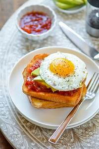 Avocado Fried Egg Toast with Tomato Jam Recipe ...