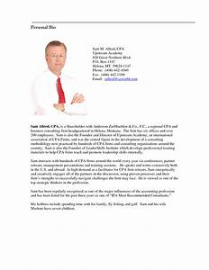Image gallery personal bio for Short personal bio template