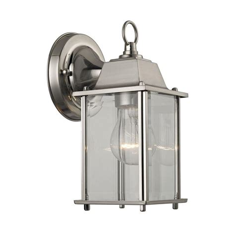 light brushed nickel outdoor wall sconce tn