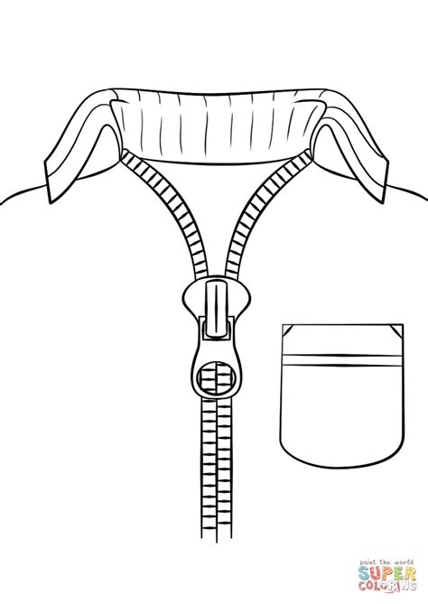 zipper coloring page sketch coloring page