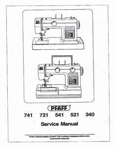 Service Manual Pfaff Hobby 4240  4250  4260 Sewing Machine
