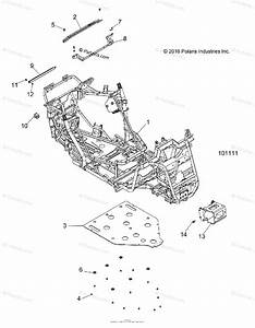 Polaris Atv 2017 Oem Parts Diagram For Chassis  Main Frame