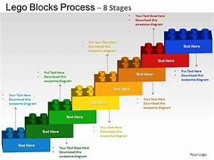 Lego Blocks Flowchart Process Diagram 8 Stages Powerpoint