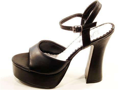 Pleaser Shoes Dolly Black High Heel Platform Sandals