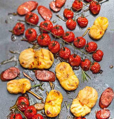 recette de cuisine a la plancha recette lotte au chorizo et tomates cerises à la plancha