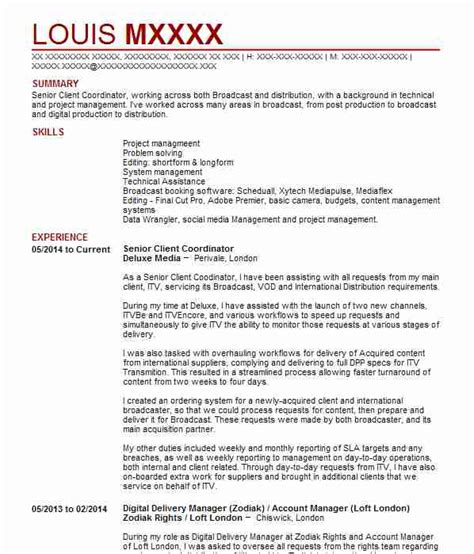 Radio Presenter Resume by 195 Television And Radio Cv Exles Entertainment And