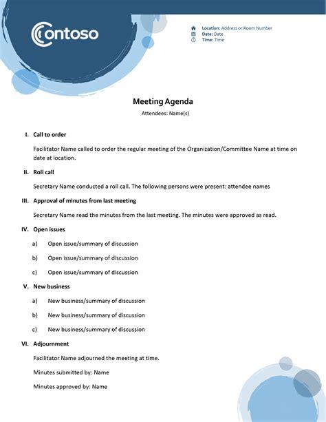 agendas officecom