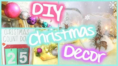 diy christmas room decor easy festive youtube