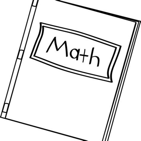 library  math book clip black  white  black