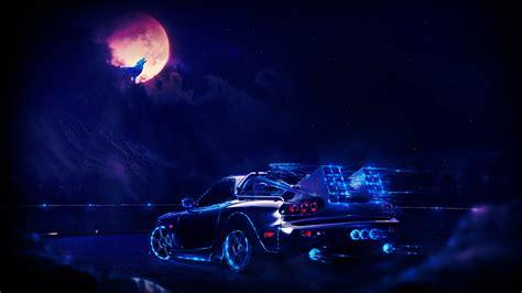80s Neon Car Wallpaper by Artwork Concept Car Neon Wallpapers Hd