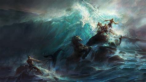 Vector Art, Poseidon, Painting Wallpapers Hd / Desktop And