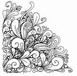 Coloring Corner Mandala Flower Difficult Desine Again Bar Don Looking Case sketch template