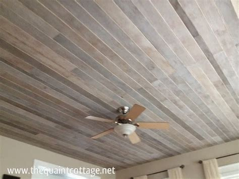 DIY: How to Cover a Popcorn Ceiling With a Faux Rustic