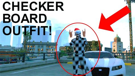 GTA 5 - Checkerboard Outfit Modded In GTA ONLINE! (Xbox 360/PS3) - YouTube