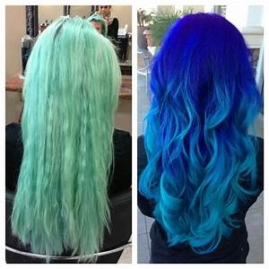 From Faded Turquoise To A Blue Ombre Hair Pinterest